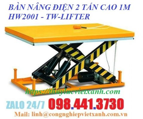 Bàn nâng điện 2 tấn cao 1m tw-lifter