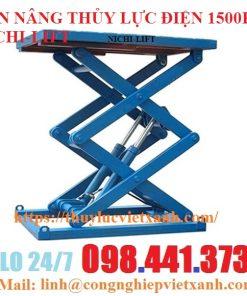 bàn nâng điện 1500kg