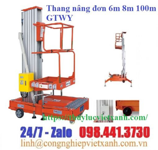 Thang nâng đơn 6m 8m 100m GTWY