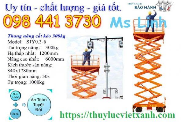 Thang nâng người 6m ziczac SJY0.3-6