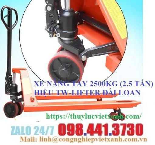 Xe nâng tay 2500kg (2.5 tấn) TW-LIFTER
