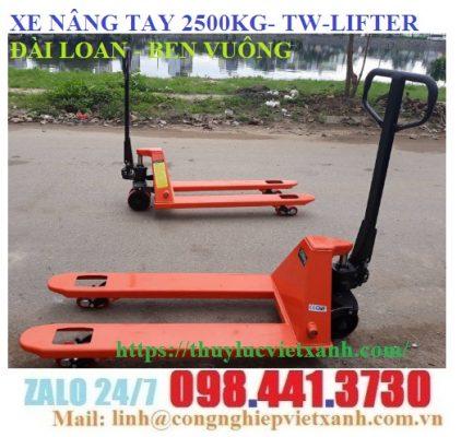 Xe nâng tay 2.5 tấn (2500kg) TW-LIFTER
