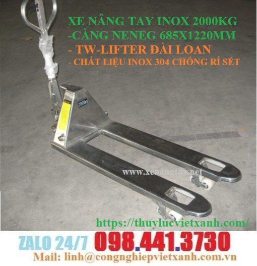 Xe nâng tay inox 2000kg (2 tấn) TW-LIFTER