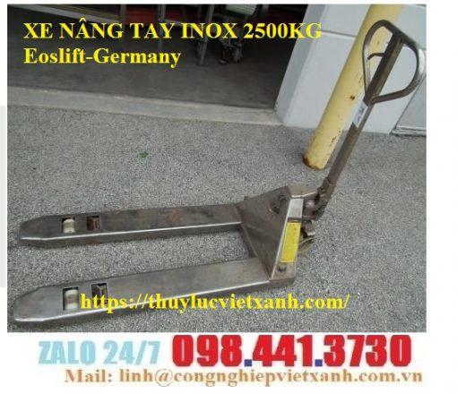 Xe nâng tay inox 2500kg Eoslift-Germany
