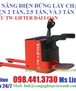 Xe nâng điện đứng lái chạy điện 2 tấn 2,5 tấn và 3 tấn