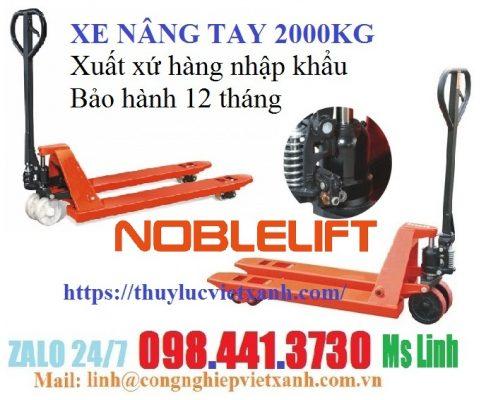Xe nâng tay 2000kg Noblelift khuyến mãi đầu năm