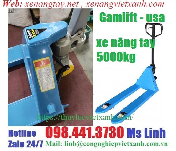 Xe nâng tay 5000kg Gamlift-usa- Model: M50
