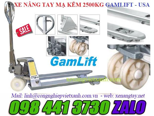 Xe nâng tay mạ kẽm 2.5 tấn (M20Z)